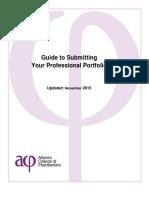 Guide SubmittingProfessionalPortfolio Nov2015