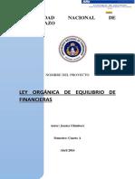 Ley Organica de Finanzas