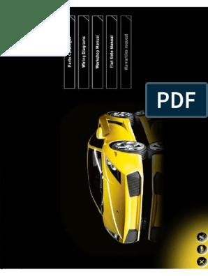 Lamborghini Gallardo Workshop Manual Steering Transmission Mechanics