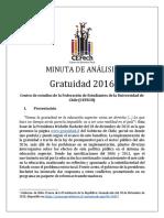 CEFECH - Minuta de Analisis Gratuidad 2016