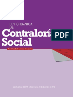 Ley Organica de Contraloria Social