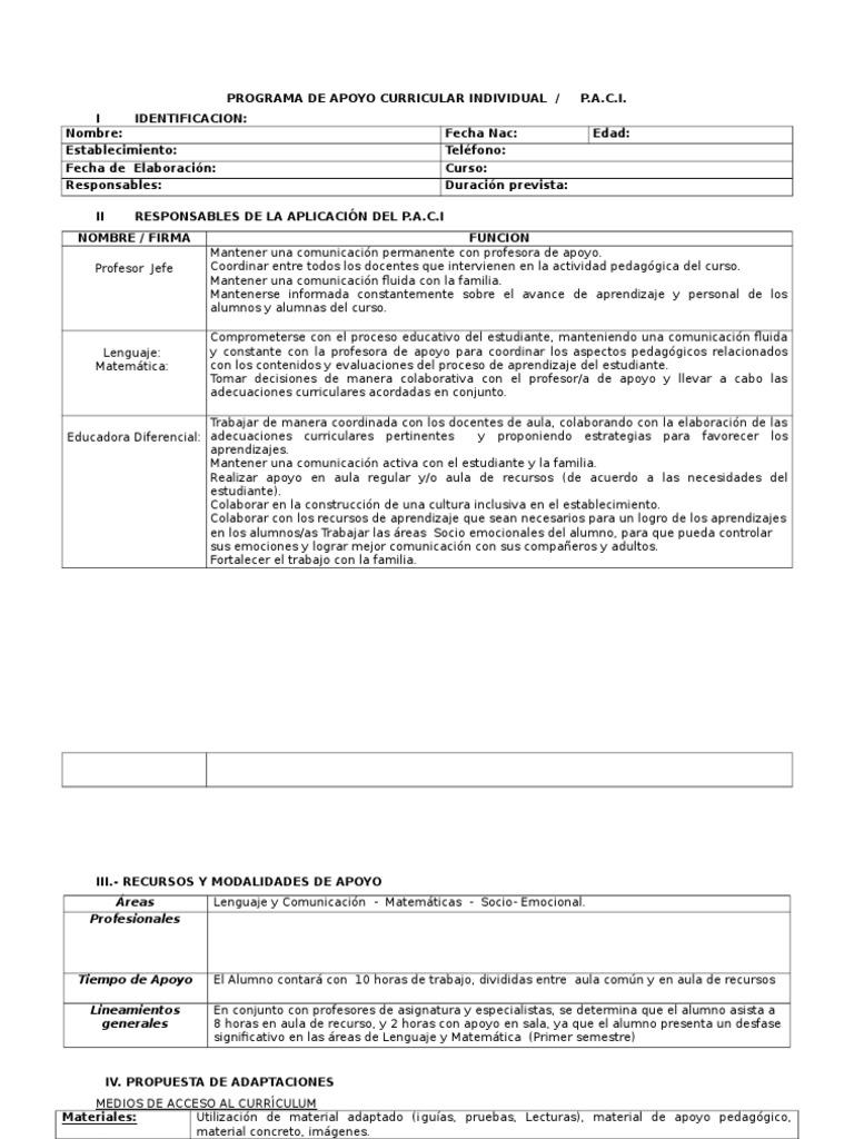 Dorable Plantilla De Plan De Desarrollo Individual.doc Ideas ...