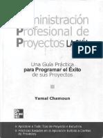 Yamal Chamoun Administracion Profesional de Proyectos PDF Capitulo 1 1