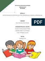 ESTRATEGIAS DE INTERVENCIÓN PSICOPEDAGÓGICA PARA EL APRENDIZAJE