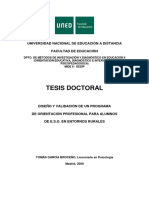 Programa de Orientación Profesional Para Alumnos de ESO en Entornos Rurales