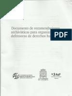 Recomendações arquivísticas Direitos Humanos