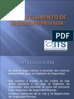 1ª Presentación- Ley y Reglamento de Seguridad Privada