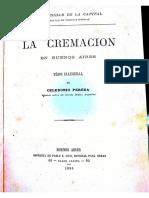 Celedonio Pereda La Cremación