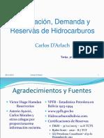 Bolivia Exploracion Demanda Reservas de HC Corta DArlach 30 Noviembre 2015