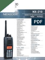 Kenwood Nx 210 Brochure