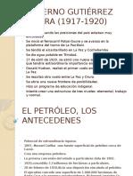 Gobierno Gutiérrez Guerra (1917-1920) Y ANTESEDENTES