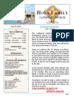 church bulletin 6-5-2016