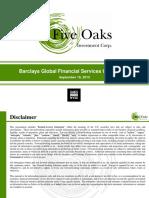 Five Oaks Barclays Presentation Sep 18 2015v7