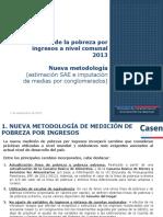 Sintesis Estimacion de La Pobreza Por Ingresos en Comunas 2011 2013(Nuevametodologia)07092015