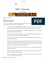 GSM - Overview