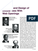 Behavior and Design of Double Tees With Web Openings