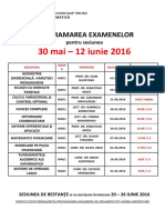 Examene Iunie 2016 Master