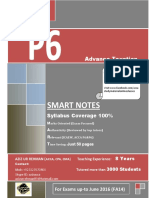 ACCA P6 SMART compendium Notes  (40 Pages) for June 2016