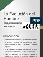 La Evolución del Hombre- Sebastián Maldonado Ramos- 7°A