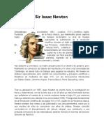 Investigación Sir Isaac Newton