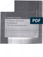 Melissa Walker Cómo Escribir Trabajos de Investigacion