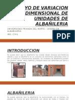 Ensayo de Variacion Dimensional de Unidades de Albañileria