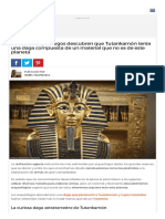 Increíble_ Arqueólogos Descubren Que Tutankamón Tenía Una Daga Compuesta de Un Material Que No Es de Este Planeta - Batanga