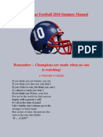 Hiram College Football 2010 Summer Manual