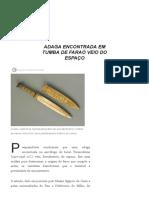 Adaga Encontrada Em Tumba de Faraó Veio Do Espaço - Galileu _ Ciência