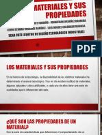 Los Materiales y sus propiedades, concepto de material, tipos de materiales, propiedades de materiales y ensayos de materiales