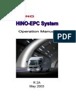 Hino ePc Manual