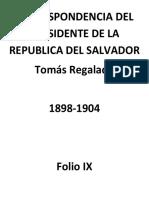 Correspondencia de Presidente Tomás Regalado, Folio Ix