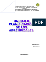 Andreina Planificación de Los Aprendizajes