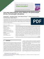 Band Brecha Ingeniería Por Dopaje de Aniones en El Fotocatalizador Bitao 4 - Primeros Cálculos Principales.
