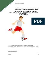 Análisis de conceptual de la técnica básica en el fútbol