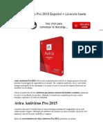 Avira Antivirus Pro 2015 Español