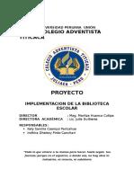 Proyecto - Biblioteca Escolar
