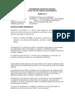 Ufg - Iec 1 - Tarea No. 9 - El Sistema Economico
