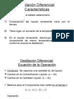 .Destilación Diferencial