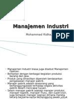 Manajemen Industri