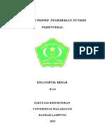 Prinsip Pemberian Nutrisi Parenteral-1