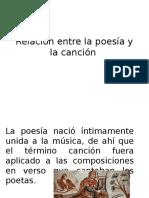 Relación Entre La Poesía y La Canción