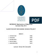 Mechanics of Machines project