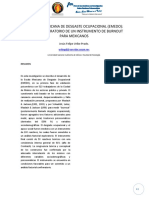 LA ESCALA MEXICANA DE DESGASTE OCUPACIONAL (EMEDO)