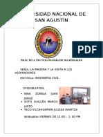 Informe de La Madera y La Visita a Los Aserradores en Arequipa.