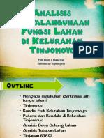 Analisis Penyalahgunaan Fungsi Lahan Di Kelurahan Tinjomoyo