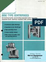SHARPLES Nozlejector Type Centrifuges - General Brochure