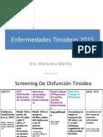 Enfermedades Tiroideas 2015