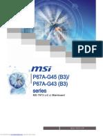 MSI Motherboard p67ag43_b3