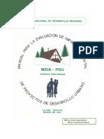 Manual de Evaluación de Impacto Ambiental para Proyectos de Desarrollo Urbano (MEIA-PDU)